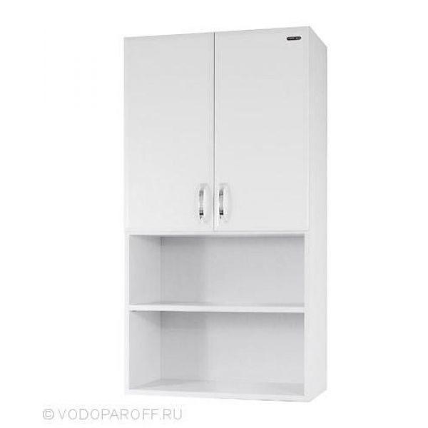 Шкаф для ванной 60 с нишей (цвет белый)