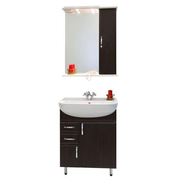 Комплект мебели для ванной комнаты Колумбия 65 (цвет венге)