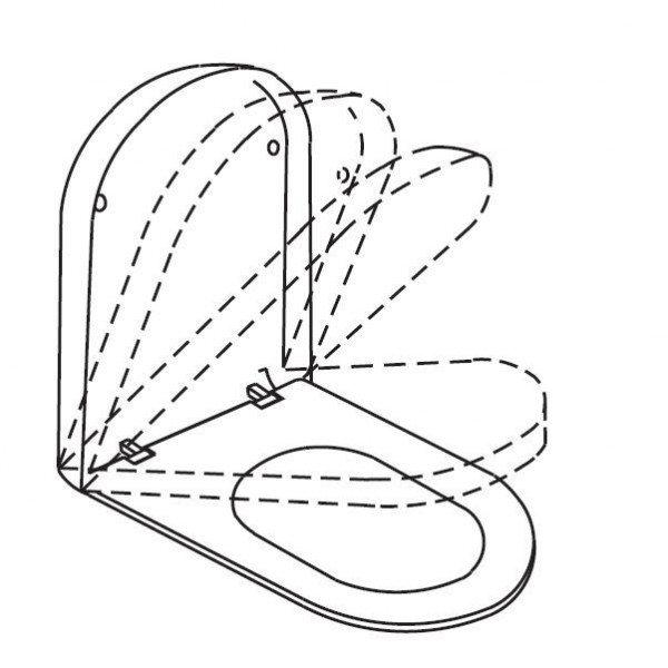 Сидение и крышка с микролифтом Hatria FUSION YOXC