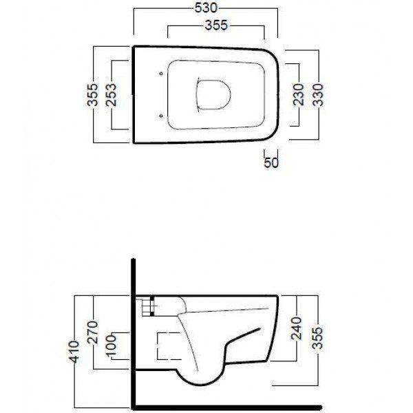 Унитаз подвесной Hatria Fusion Q-YXBX
