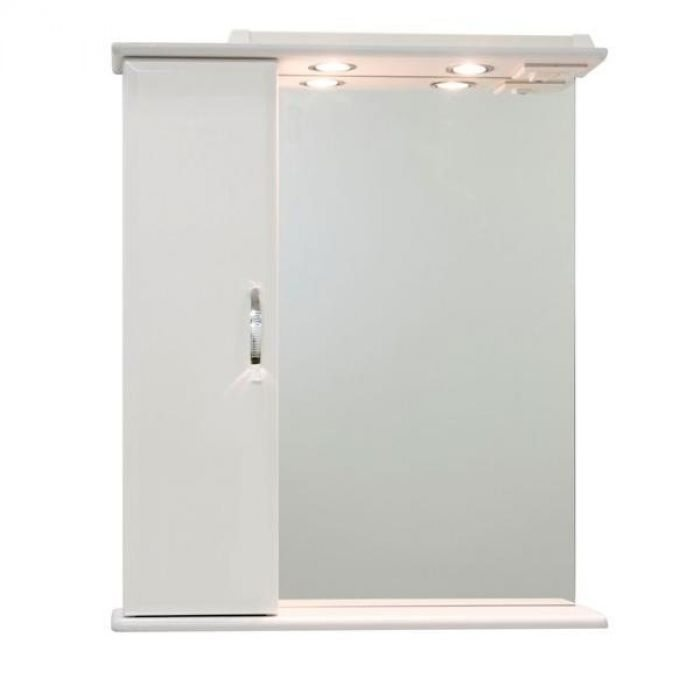 Зеркало со шкафом Колумбия 65 (цвет белый)