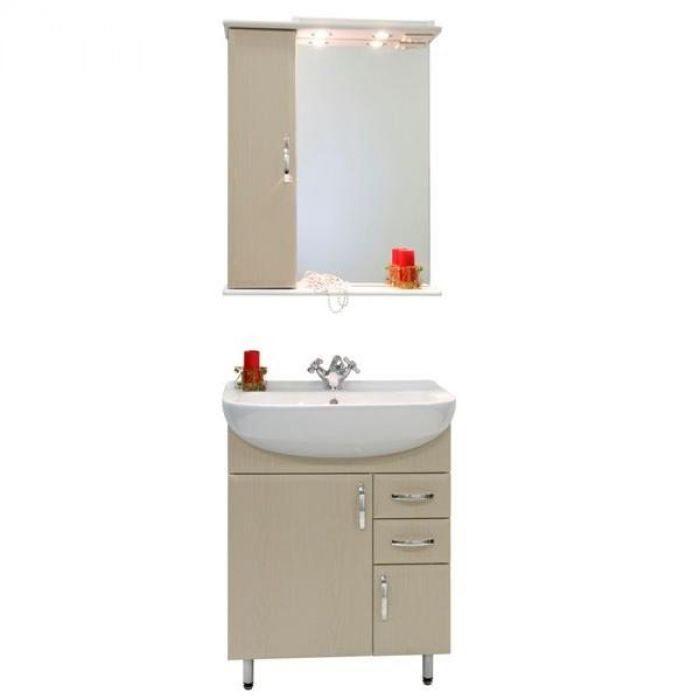 Комплект мебели для ванной комнаты Колумбия 65 (цвет дуб)