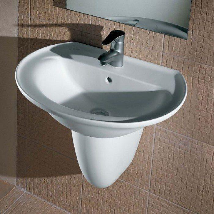 Раковина для ванной на 60 см Hatria MARILYN YH29 с полуколонной YU81