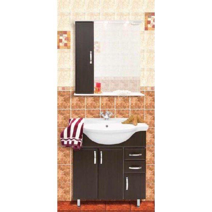 Комплект мебели для ванной комнаты Колумбия 75 (цвет венге)