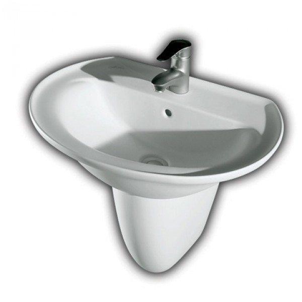 Раковина для ванной на 68 см Hatria MARILYN YH28 с полуколонной YU81
