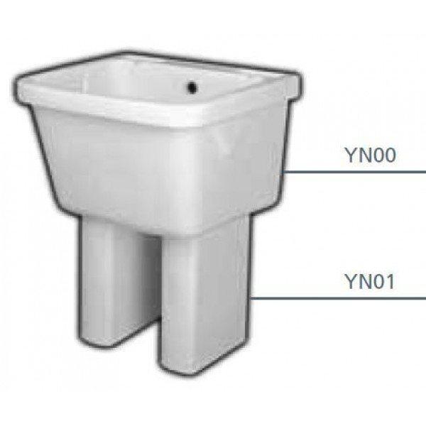 Постирочная раковина Hatria COMPLEMENTS YN00 с керамическими ногами YN01