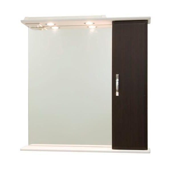 Зеркало со шкафом Колумбия 75 (цвет венге)