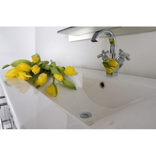 Комплект мебели для ванной Ницца Д 75 Чёрный бриллиант