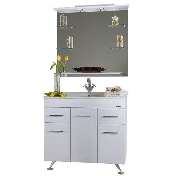 Комплект мебели для ванной Ницца Д 90 Белый