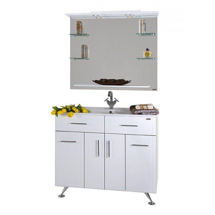 Комплект мебели для ванной Ницца Д 100 Белый