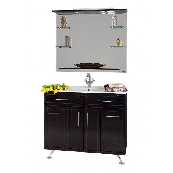 Комплект мебели для ванной Ницца Д 100 Чёрный бриллиант