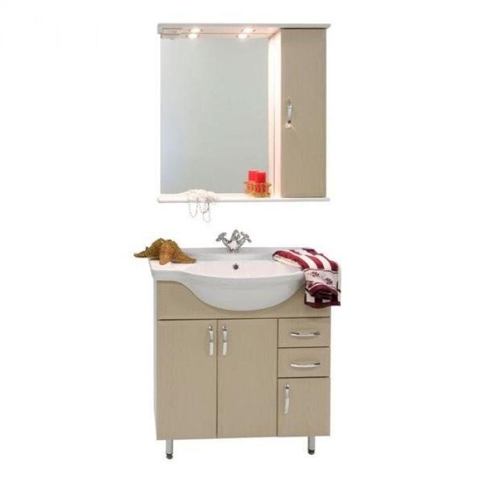 Комплект мебели для ванной комнаты Колумбия 75 (цвет дуб)