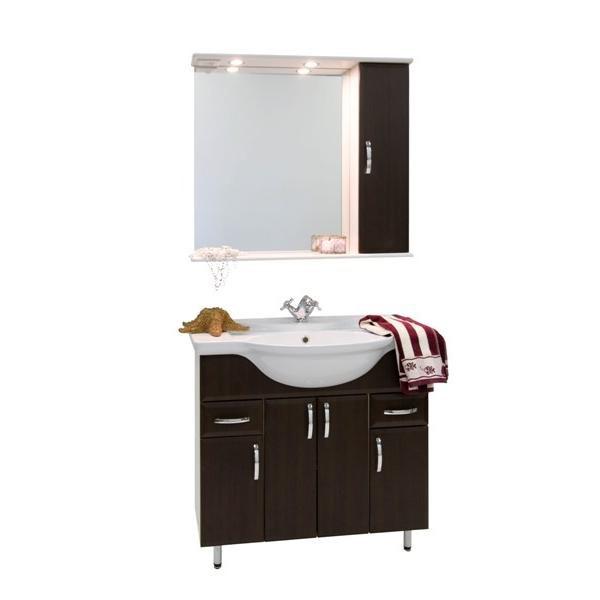 Комплект мебели для ванной комнаты Колумбия 85 (цвет венге)
