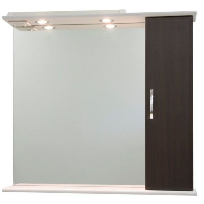 Зеркало со шкафом Колумбия 85 (цвет венге)