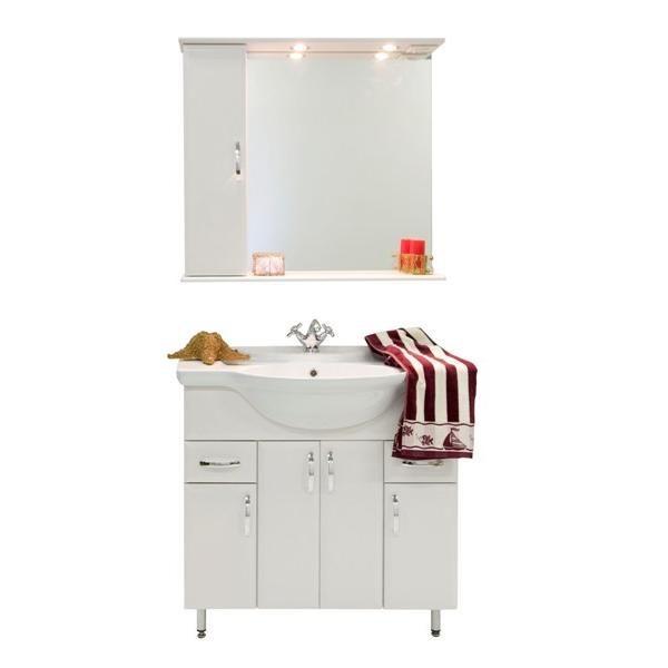 Комплект мебели для ванной комнаты Колумбия 85 (цвет белый)