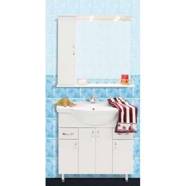 Продажа Комплект мебели для ванной комнаты Колумбия 85 (цвет белый)