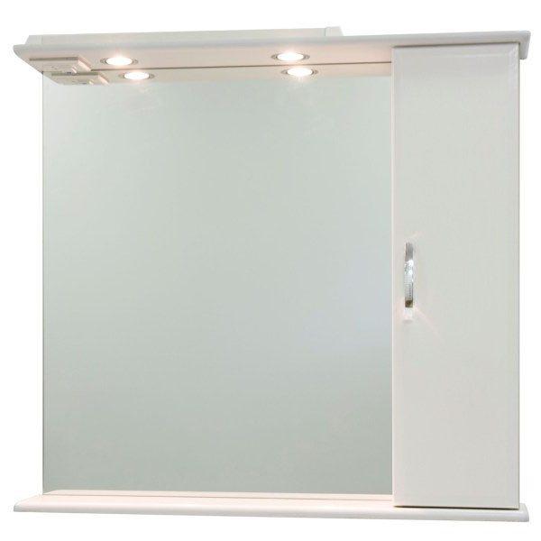 Зеркало со шкафом Колумбия 85 (цвет белый)