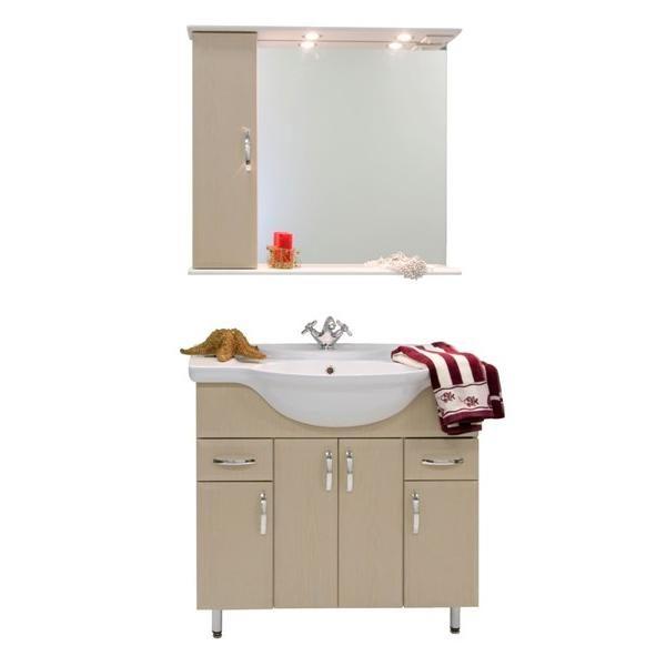 Комплект мебели для ванной комнаты Колумбия 85 (цвет дуб)