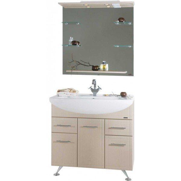 Комплект мебели для ванной Альфа 90 Дуб