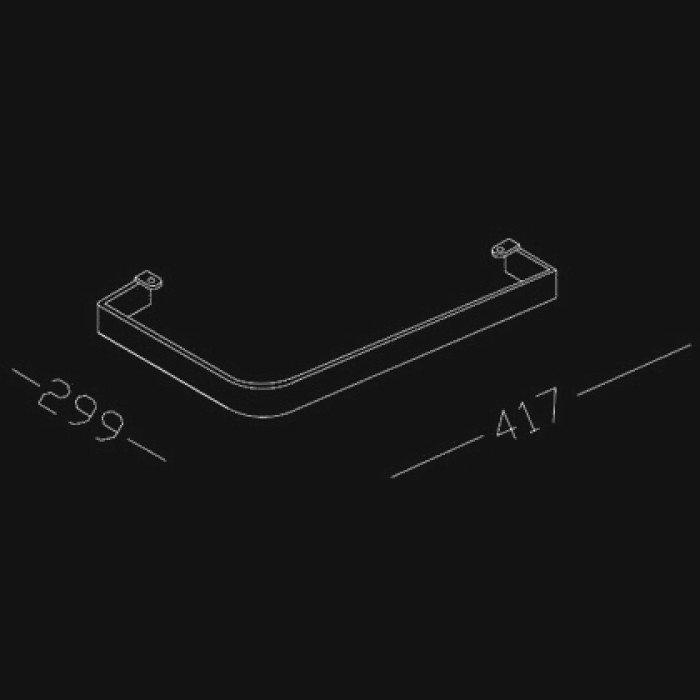 Полотенцедержатель хромированный Hatria GRANDANGOLO YAA2