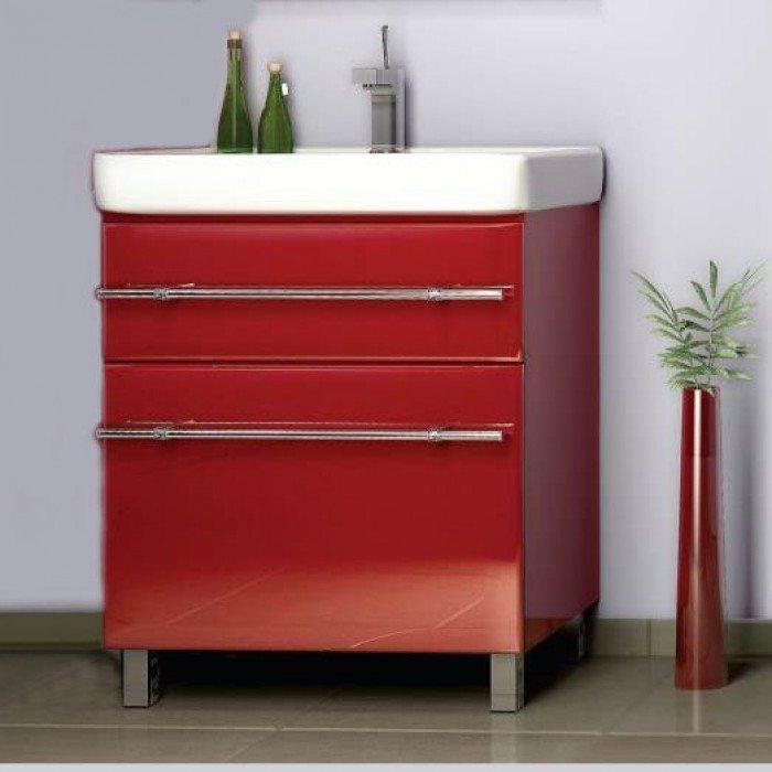 Тумба с раковиной для ванной NOVITA Q7 (цвет красный)