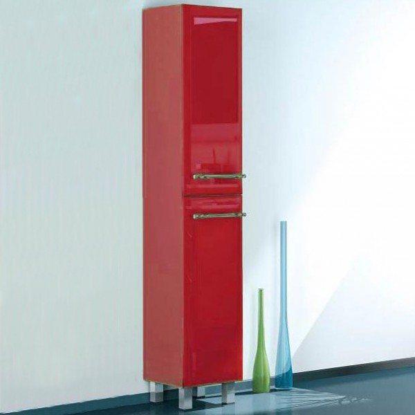 Пенал для ванной комнаты с корзиной для белья NOVITA Q7 (цвет красный)