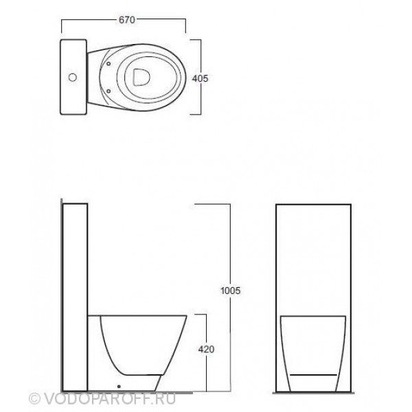 Унитаз напольный моноблок SIMAS Bohemien BO 01 с бачком и сидением с крышкой BO 002 bia