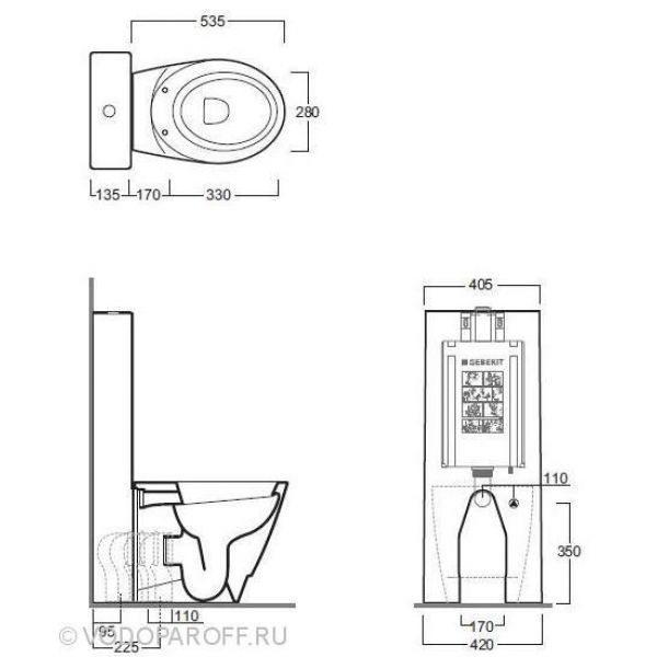 Унитаз напольный моноблок SIMAS Bohemien BO 01 с бачком и сидением с крышкой BO 002 nero