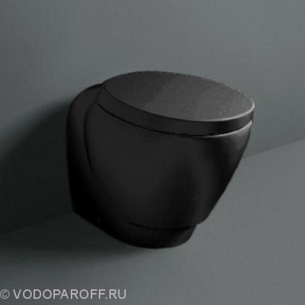 Унитаз приставной SIMAS Bohemien BO 01 nero с сидением и крышкой BO 002 nero