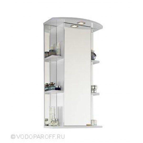 Зеркало для ванной комнаты ЭЛЬБА 45 (цвет белый)