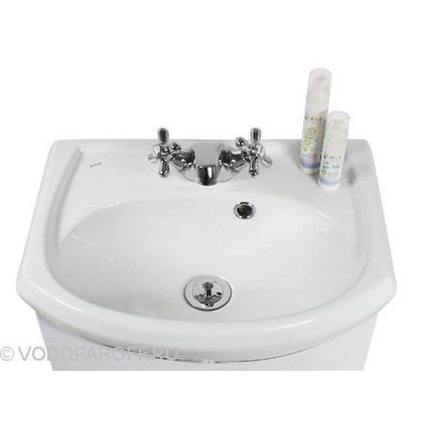 Тумба с раковиной для ванной комнаты ЭЛЬБА 45 (цвет белый)
