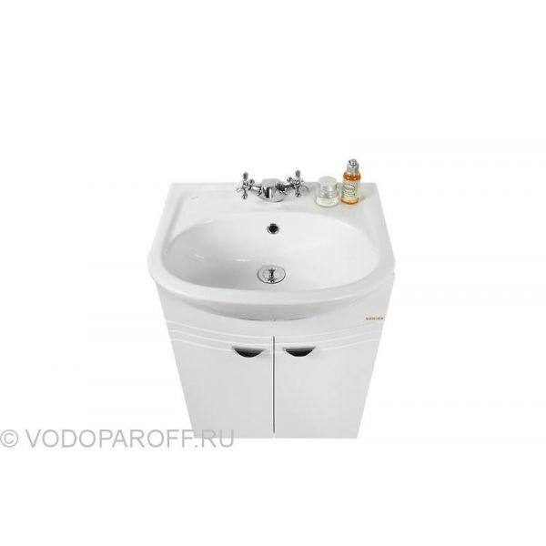 Тумба с раковиной для ванной комнаты ЭЛЬБА 50 (цвет белый)