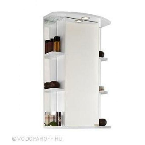 Зеркало для ванной комнаты ЭЛЬБА 55 (цвет белый)