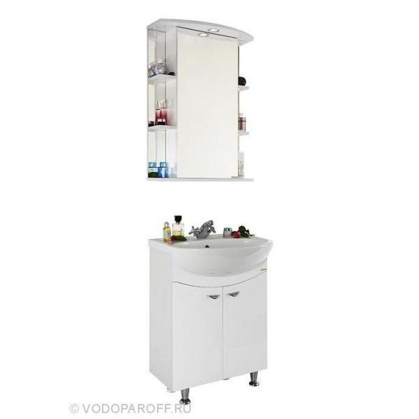 Комплект мебели для ванной комнаты ЭЛЬБА 60 (цвет белый)