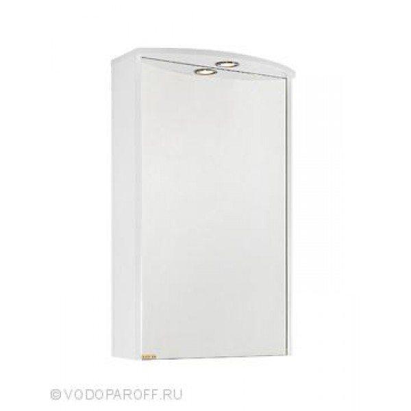 Зеркальный шкаф для ванной комнаты МОНА 50 (цвет Белый)