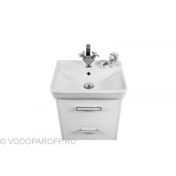 Тумба с раковиной для ванной комнаты МОНА 55 Белая