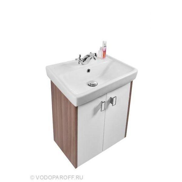 Тумба с раковиной для ванной комнаты МОНА 55 (цвет Ясень Шимо)