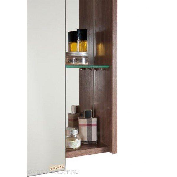 Зеркальный шкаф для ванной комнаты МОНА 60 (цвет Ясень Шимо)