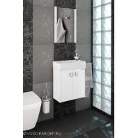 Комплект мебели для ванной комнаты ТВИСТ 50 Белый