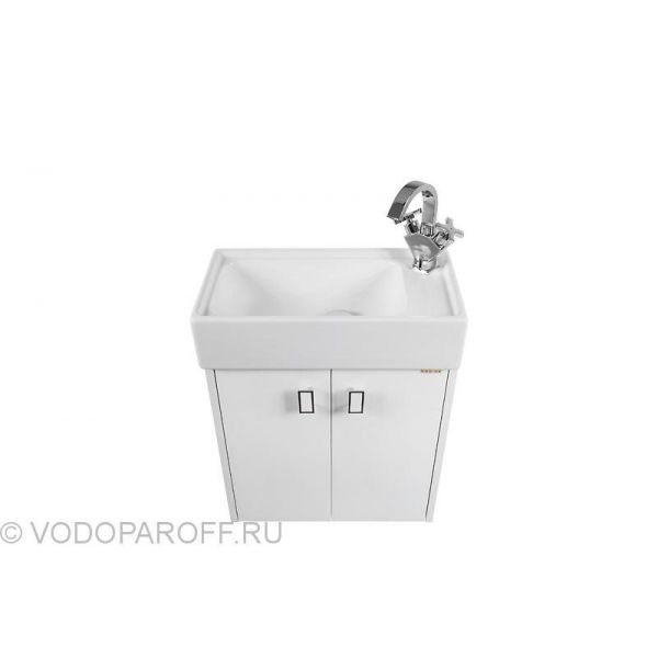 Комплект мебели для ванной ТВИСТ 50 Белый (Флоренц 50)