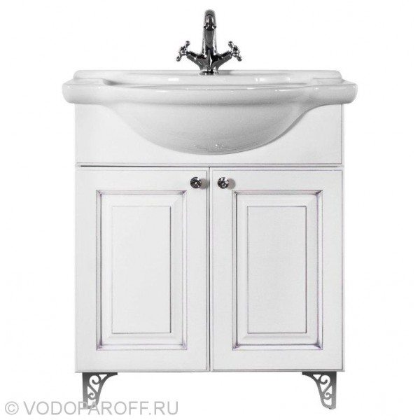 Тумба с раковиной для ванной комнаты Белладжио 75 (цвет белый)