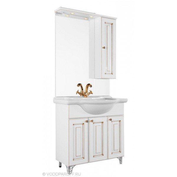 Зеркало для ванной комнаты Белладжио 85 (цвет белый)