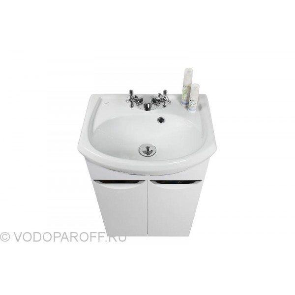 Тумба с раковиной для ванной комнаты Лира 45 (цвет белый)