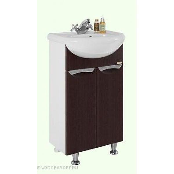 Тумба с раковиной для ванной комнаты Лира 45 (цвет венге)