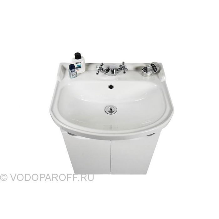Тумба с раковиной для ванной комнаты Лира 55 (цвет белый)