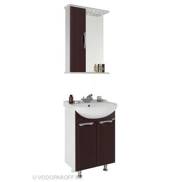 Комплект мебели для ванной Лира 55 (цвет венге)