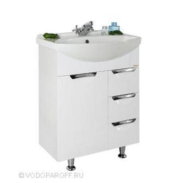Тумба с раковиной для ванной комнаты Лира 65-я (цвет белый)