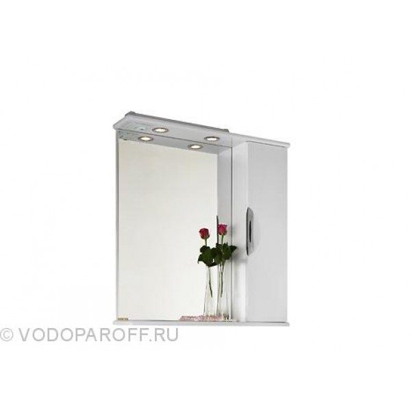 Зеркало для ванной комнаты Лира 75 (цвет белый)