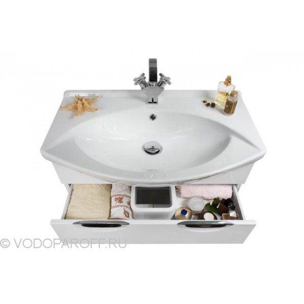 Тумба с раковиной для ванной комнаты Лира 75-я (цвет венге)
