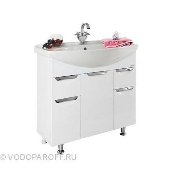 Комплект мебели для ванной комнаты Лира 85 (цвет белый)